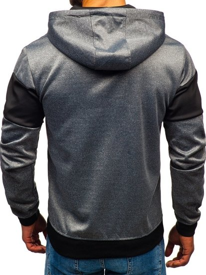 Bluza męska z kapturem grafitowa Denley 99008