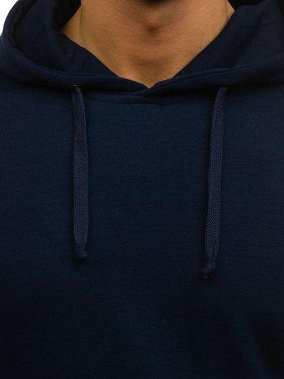 Bluza męska z kapturem granatowa Denley 6003