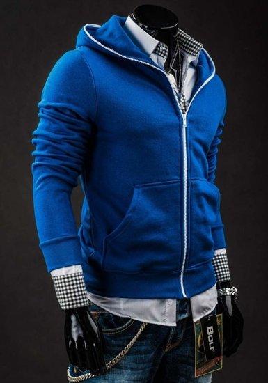 Bluza męska z kapturem indygo Bolf 14