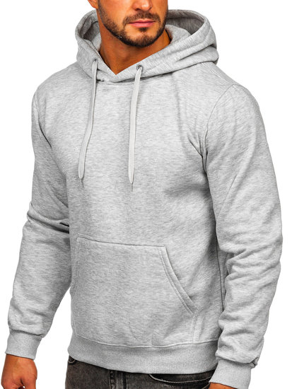 Bluza męska z kapturem jasnoszara Denley 2009