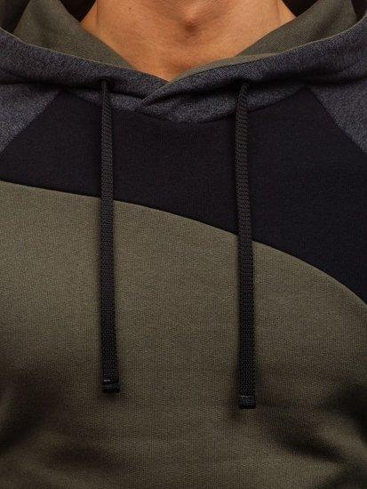 Bluza męska z kapturem khaki Bolf 28S