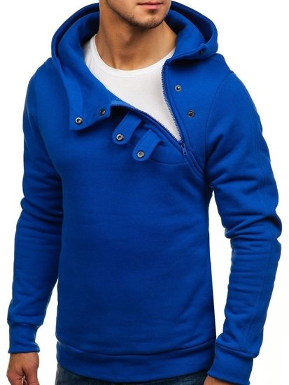 Bluza męska z kapturem kobaltowa Bolf 06