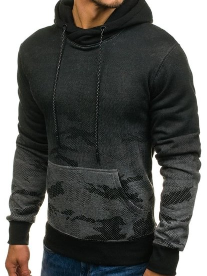 Bluza męska z kapturem moro-grafitowa Denley DD132-1