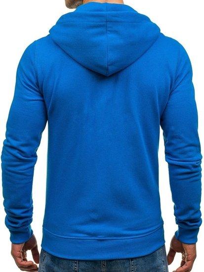 Bluza męska z kapturem niebieska Denley 03
