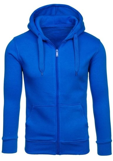 Bluza męska z kapturem niebieska Denley AK50-9