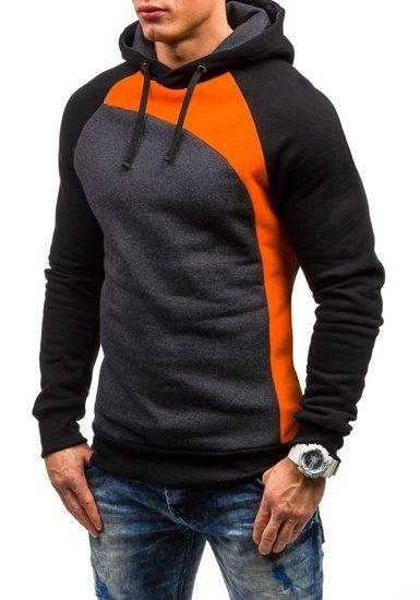 Bluza męska z kapturem pomarańczowa Denley JACK