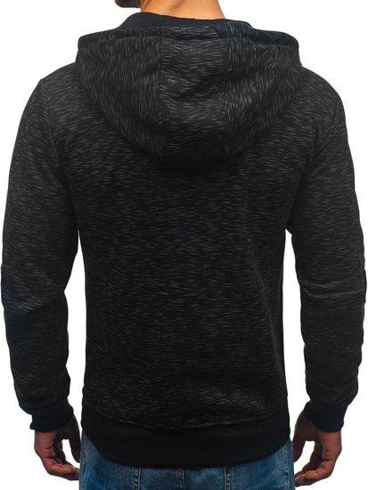 Bluza męska z kapturem rozpinana czarna Denley 33025