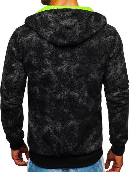 Bluza męska z kapturem rozpinana czarna Denley W1566