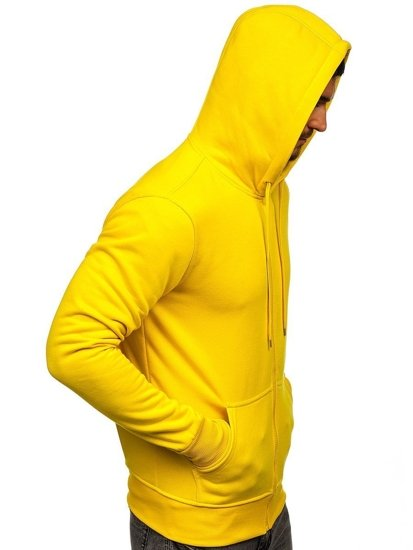Bluza męska z kapturem rozpinana żółta Denley 2008