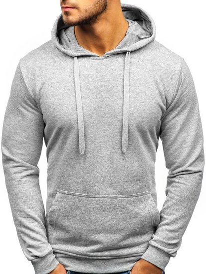 Bluza męska z kapturem szara Bolf 5361