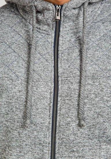Bluza męska z kapturem szara Denley 1737