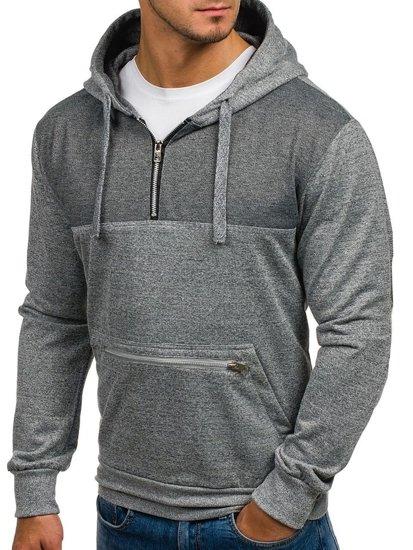Bluza męska z kapturem szara Denley 2195