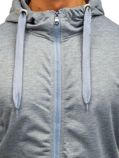 Bluza męska z kapturem szara Denley 7050