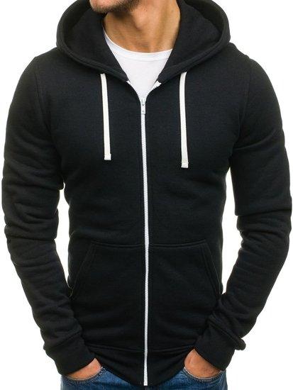 Bluza męska z kapturem z nadrukiem czarna Bolf 60S