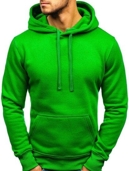 Bluza męska z kapturem zielona Denley AK47A