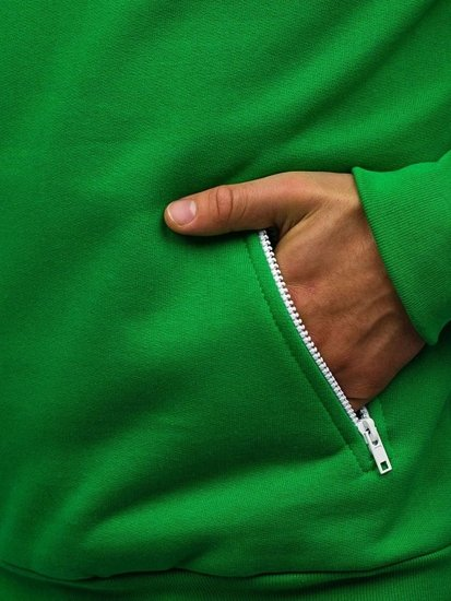 Bluza męska z kapturem zielona Denley PAUL
