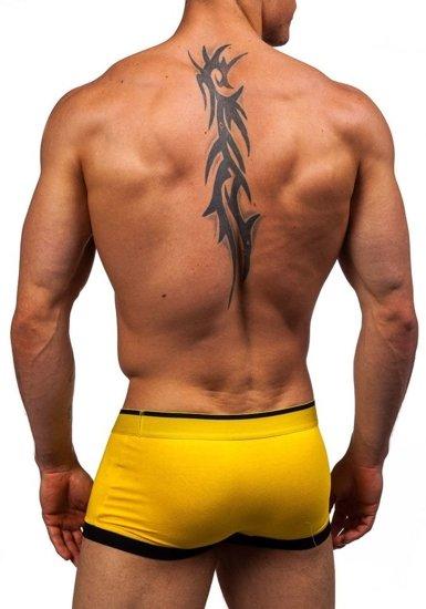 Bokserki męskie żółte Denley G510