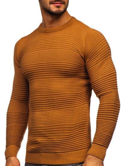 Brązowy sweter męski Denley 4608