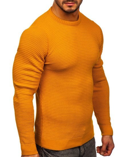 Camelowy sweter męski Denley 4604