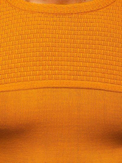 Camelowy sweter męski Denley 4623