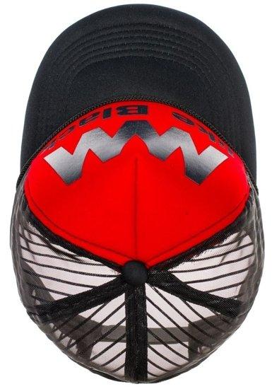 Czapka z daszkiem czarno-czerwona Denley 24