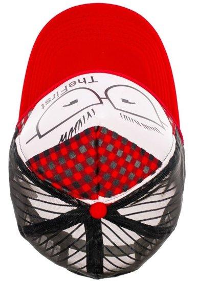 Czapka z daszkiem czerwona Denley 27