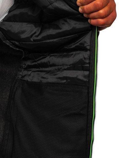 Czarna przejściowa kurtka męska Denley KS2155
