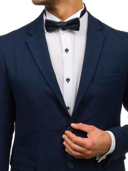 Elegancka mucha męska atramentowo-niebieska Denley M030