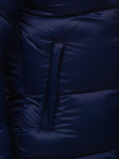 Granatowa pikowana kurtka męska zimowa Denley 1186