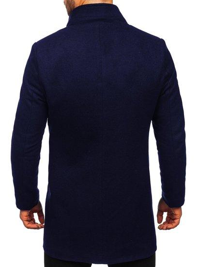 Granatowy płaszcz męski zimowy Denley 0010