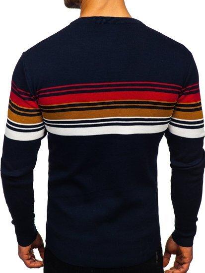 Granatowy sweter męski Denley H2061