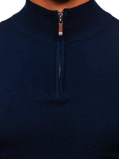 Granatowy ze stójką sweter męski Denley YY08