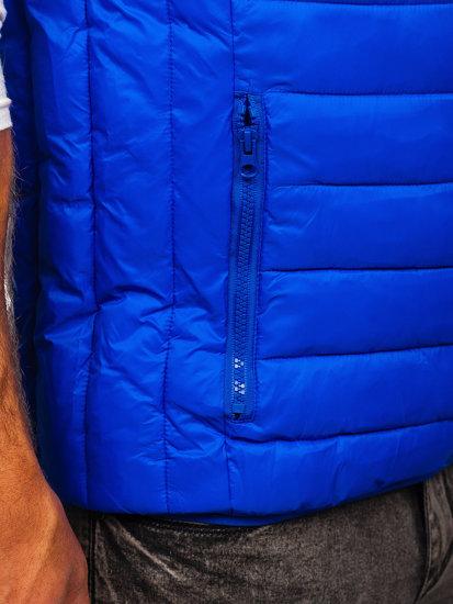 Kamizelka męska pikowana bez kaptura niebieska Denley LY32