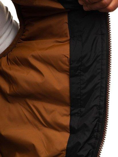 Kamizelka męska z kapturem czarna Denley 5371-A