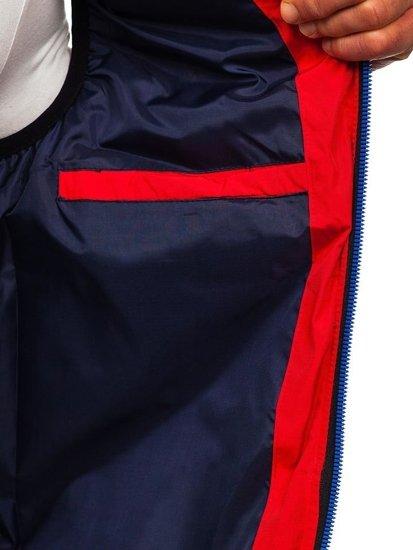 Kamizelka męska z kapturem czerwona Denley 5805