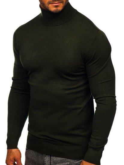 Khaki golf sweter męski bez nadruku Denley YY02