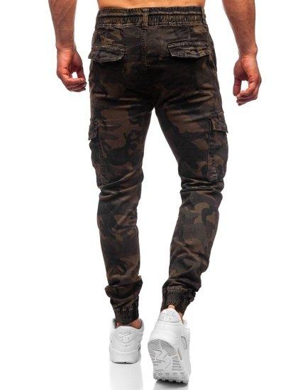 Khaki spodnie joggery bojówki męskie Denley CT6017