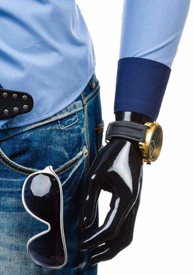Koszula męska elegancka z długim rękawem błękitna Bolf 5814