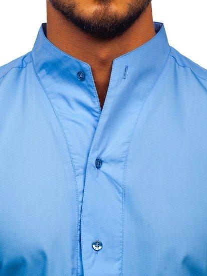 Koszula męska z długim rękawem błękitna Bolf 5702