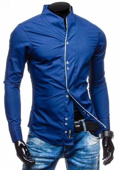 Koszula męska z długim rękawem granatowa Bolf 5720-1