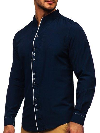 Koszula męska z długim rękawem granatowa Bolf 5720