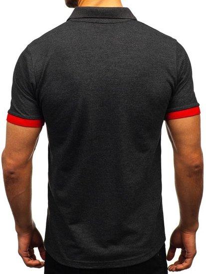 Koszulka polo męska antracytowa Bolf 171222