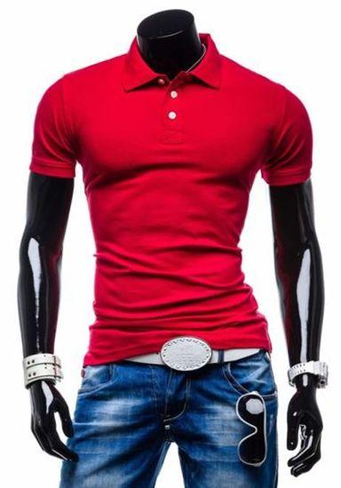 Koszulka polo męska czerwona Denley 5408