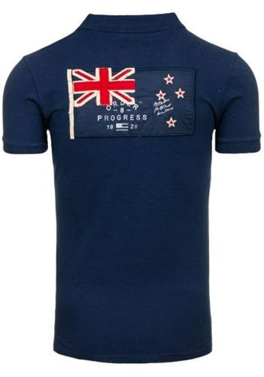 Koszulka polo męska granatowa Denley a502