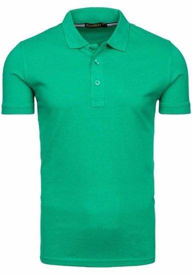Koszulka polo męska zielona Denley 6233