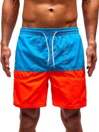 Krótkie spodenki kąpielowe męskie jasnoniebieskie Denley 310