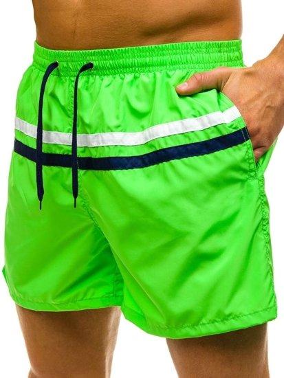 Krótkie spodenki kąpielowe męskie zielone Denley Y727