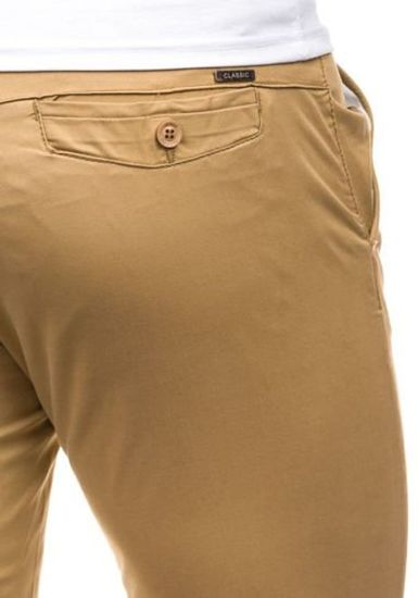 Krótkie spodenki męskie beżowe Denley 3509