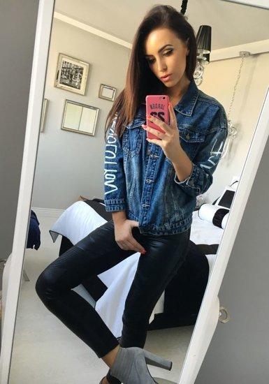 Kurtka jeansowa damska granatowa Denley 5131