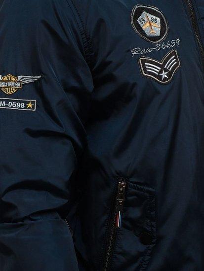 Kurtka męska przejściowa bomberka granatowa Denley 736B